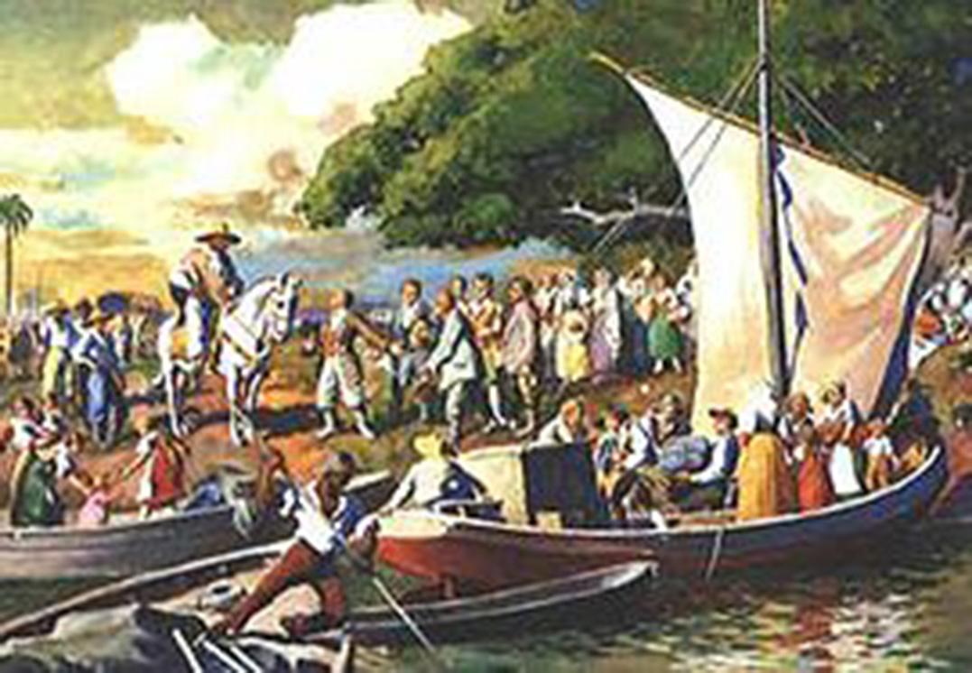 Tempos históricos: há 192 anos, alemães aportavam no sul