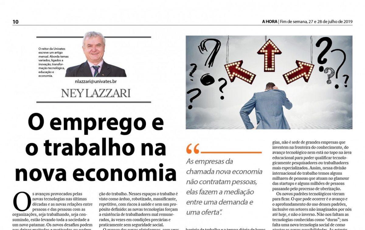 O emprego e  o trabalho na  nova economia