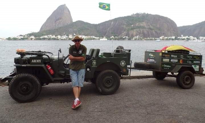 Baldissarelli no Rio de Janeiro durante a sua expedição que passou pelas capitais do Brasil