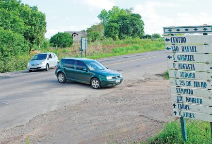 Entroncamento de acesso ao bairro São Rafael é um dos trechos mais críticos da rodovia estadual