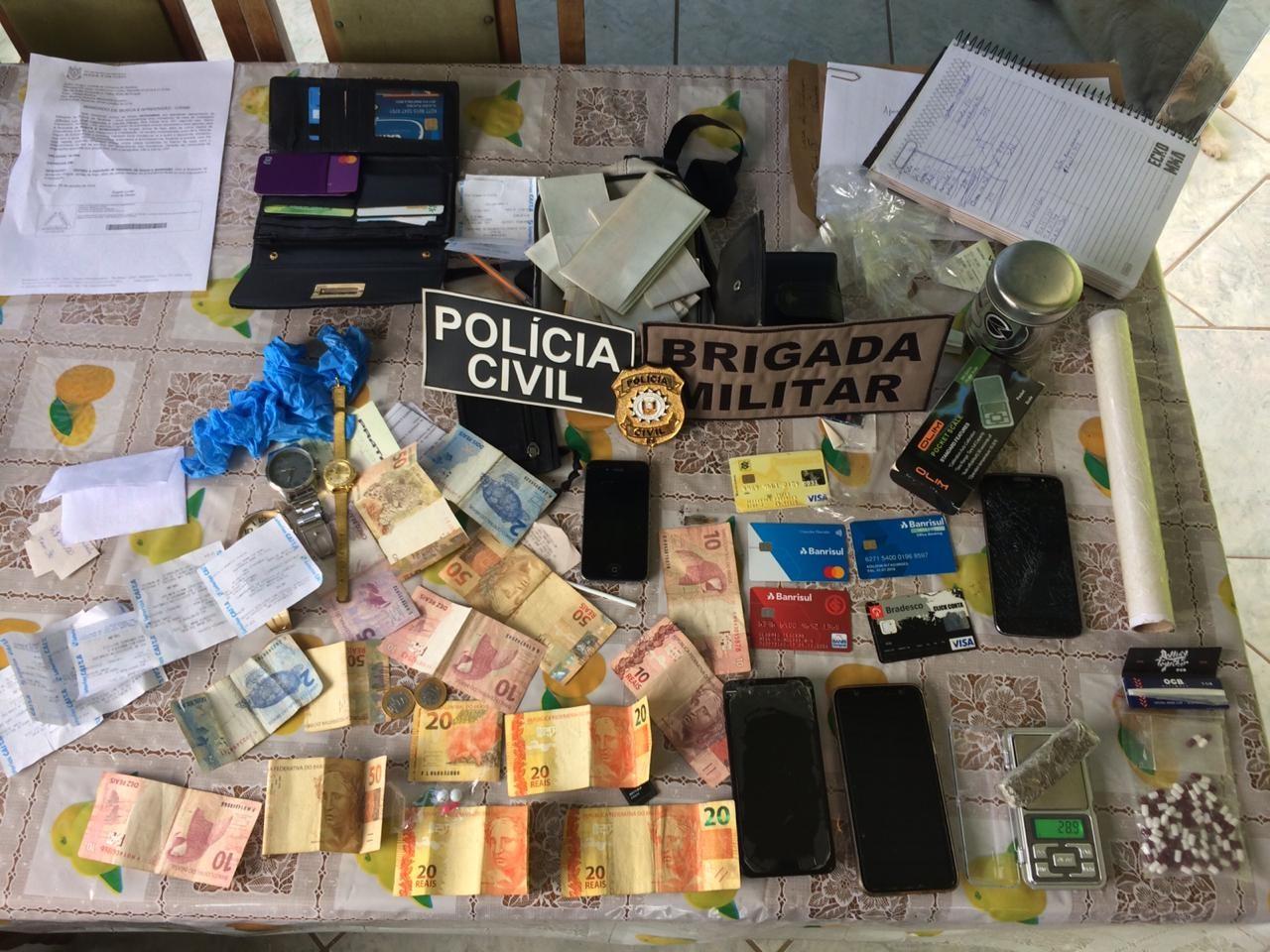Operação conjunta prende quatro por tráfico de drogas na região