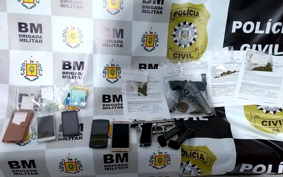 Três pessoas são presas em operação conjunta em Taquari