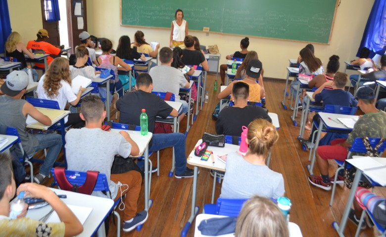 A inscrição ou a transferência do aluno deve ser feita de forma on-line