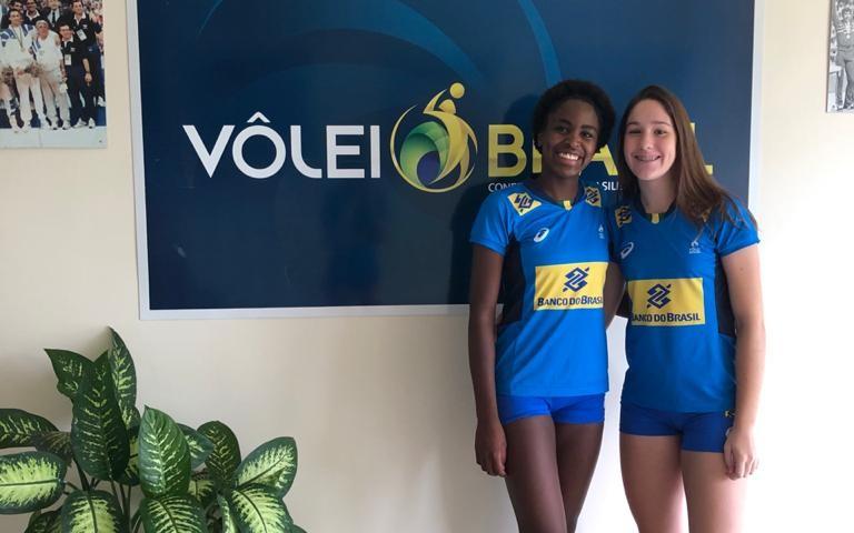 Larissa e Laura estão em Saquarema, no Rio de Janeiro, realizando testes desde a semana passada