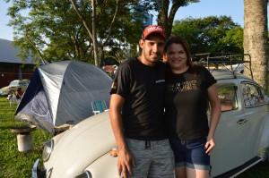 Maicon e Cátia sairam cedo de São Leopoldo e chegaram no início do evento