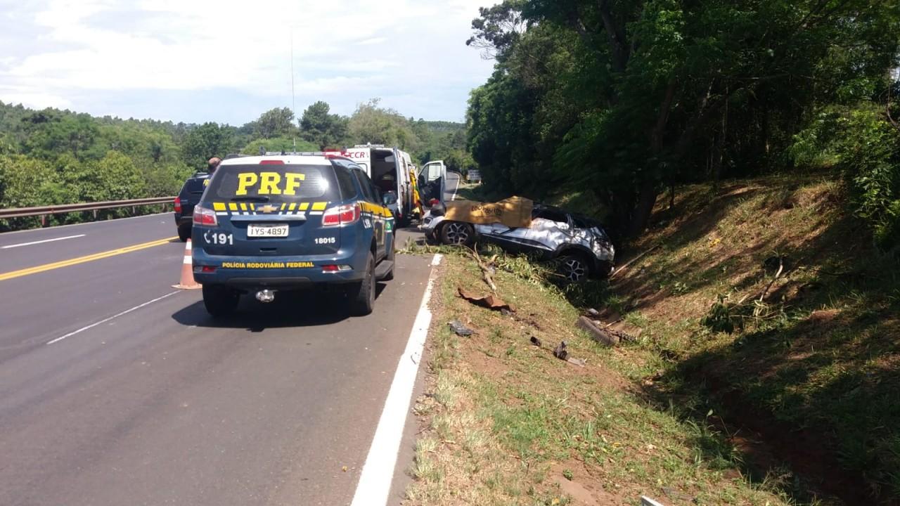 Dois homens morrem em acidente na BR-386 em Triunfo