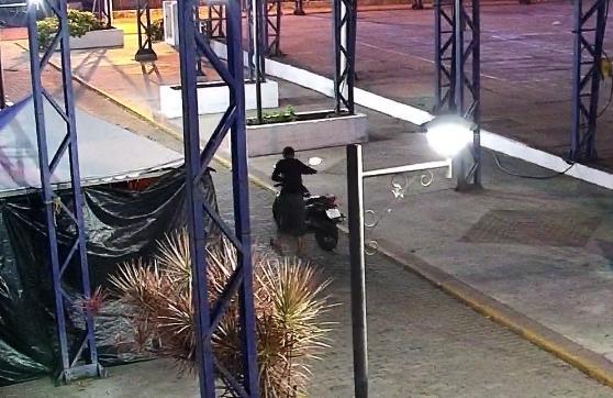 Câmeras ajudam BM a prender homem que furtou moto em Taquari