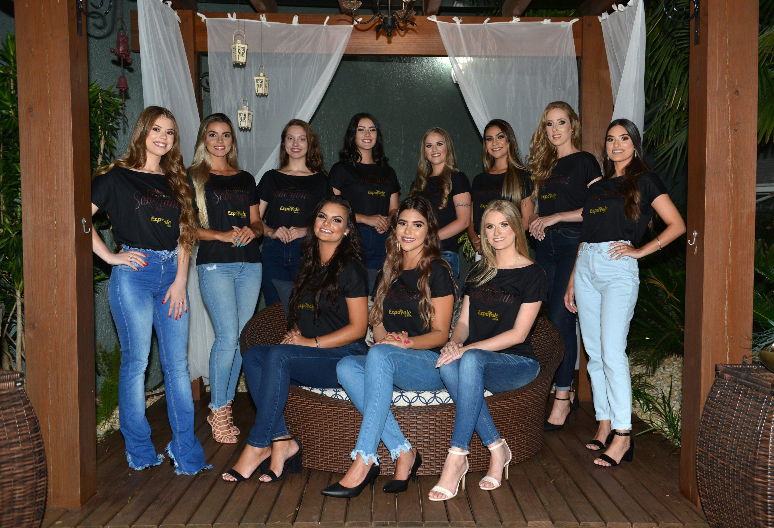 Conheça as 11 candidatas que concorrem à corte da Expovale 2020