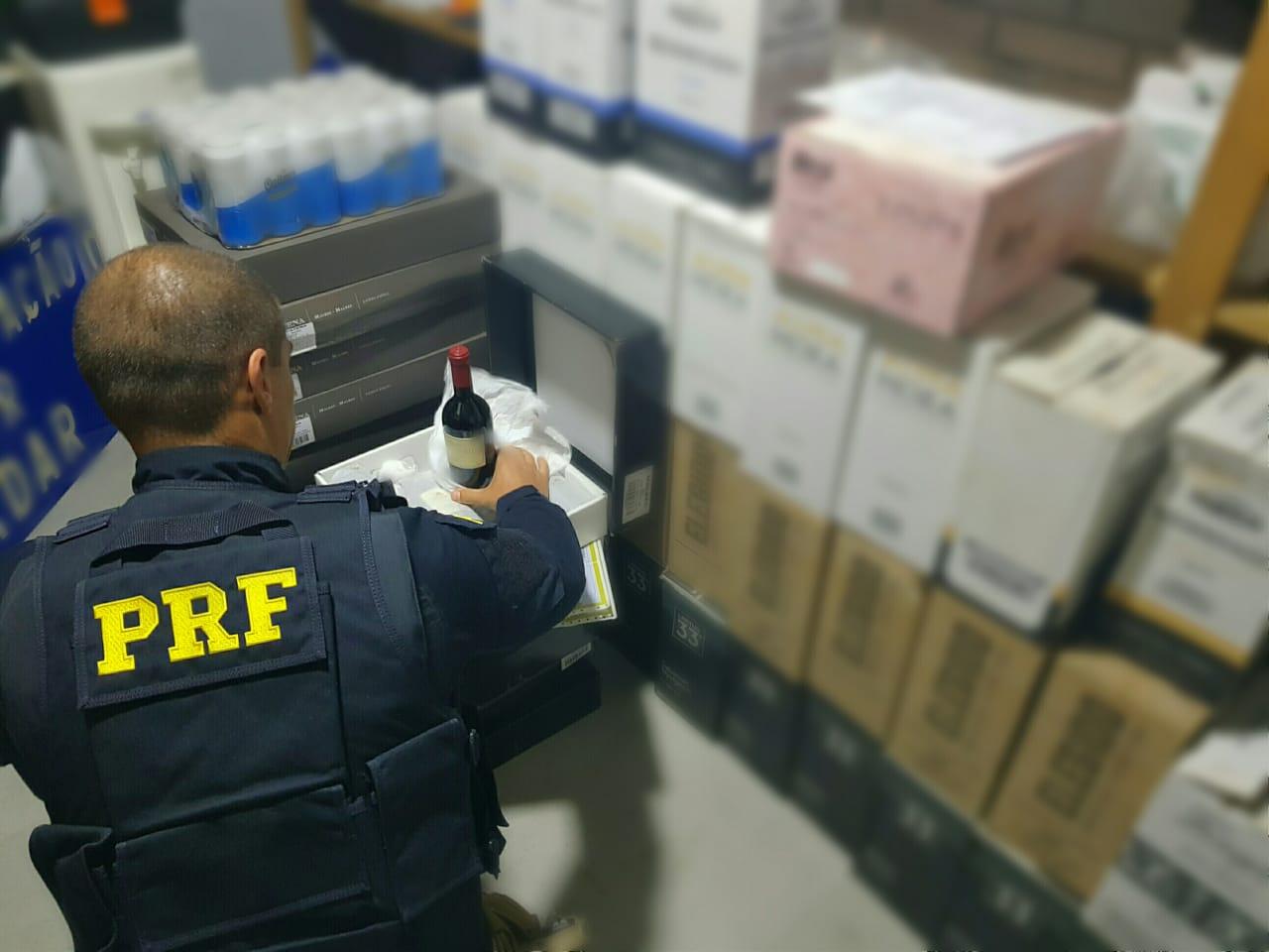 PRF apreende mais de 300 garrafas de vinho em Soledade