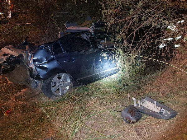 PRF atende acidente com três pessoas gravemente feridas em Nova Santa Rita