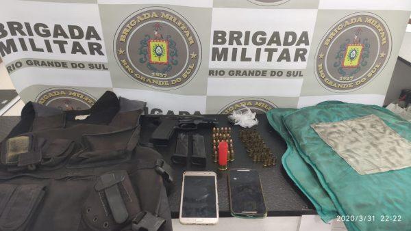 Dupla é presa após tiroteio no bairro Moinhos, em Estrela