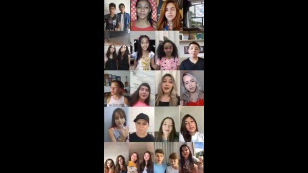 Em vídeo coletivo, talentos mirins cantam e pedem paciência