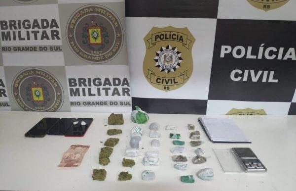 Ação prende mulher e apreende adolescente por tráfico de drogas em Estrela