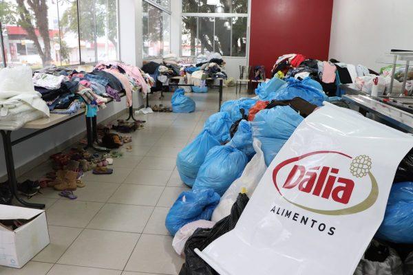 Dália mobiliza doações aos funcionários atingidos pela enchente