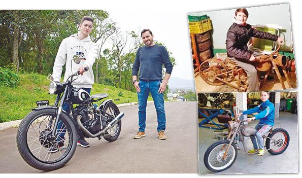 Gerações se unem para restaurar motocicleta rara
