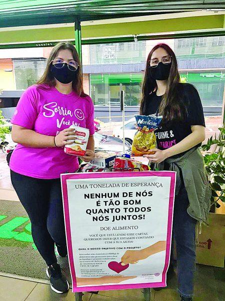 Ação solidária pretende arrecadar uma tonelada de alimentos