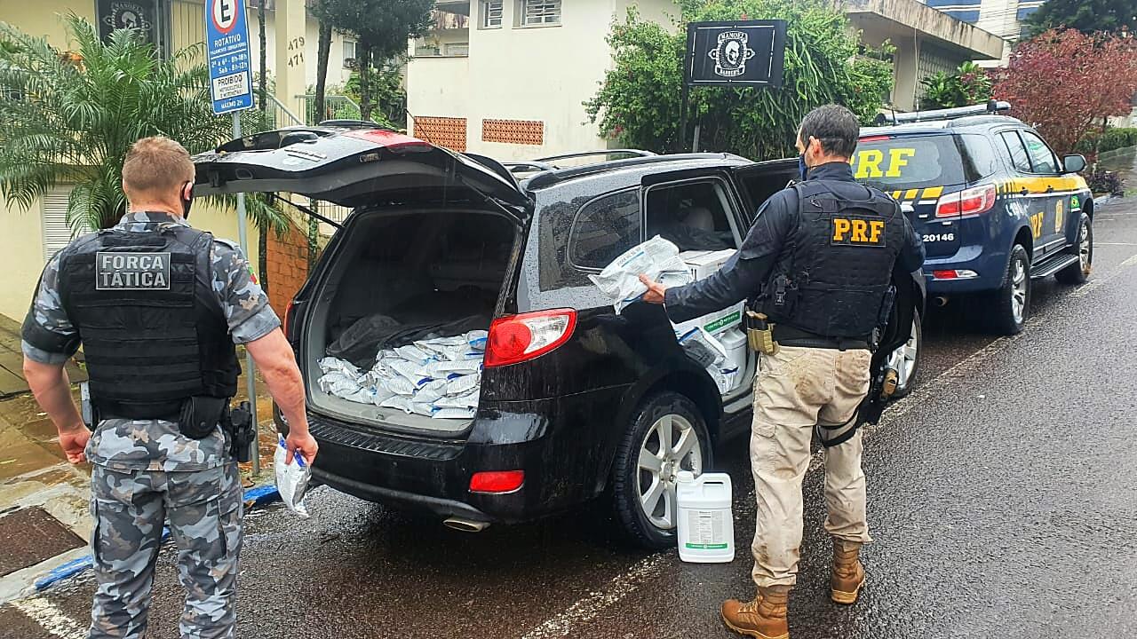 PRF e BM prendem contrabandista de agrotóxicos em Lajeado