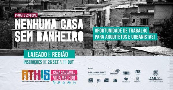 Programa contrata profissionais para melhorias sanitárias em casas de Lajeado