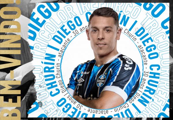 Grêmio anuncia a contratação de Diego Churín