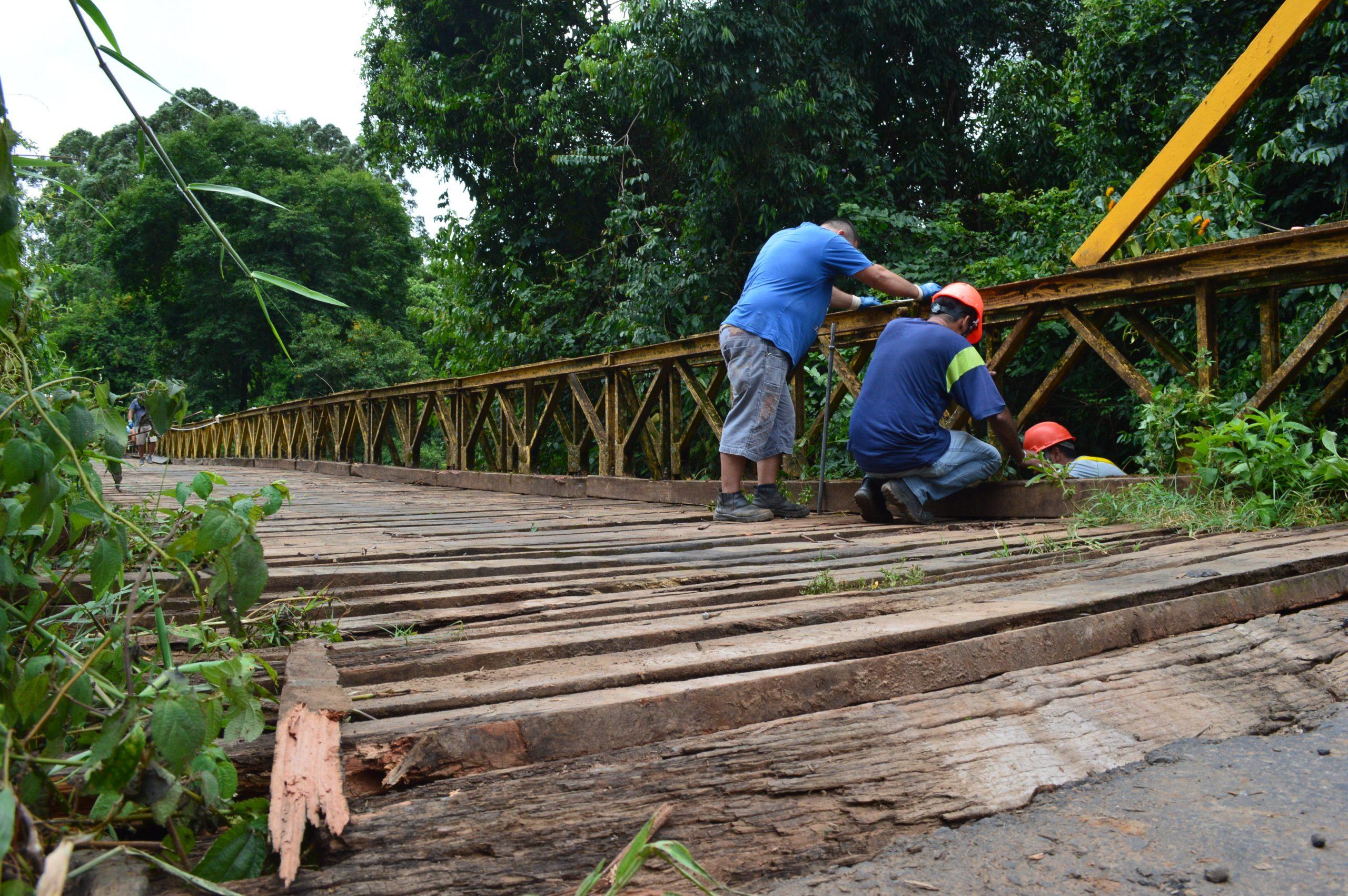 Ponte sobre arroio Boa Vista recebe reparos em Estrela