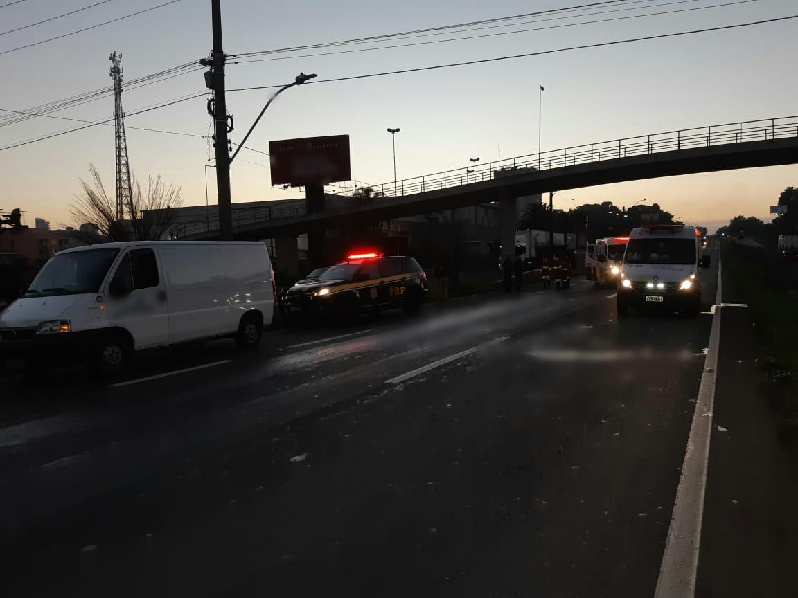 Pedestre morre atropelado na BR-386, em frente ao Shopping Lajeado