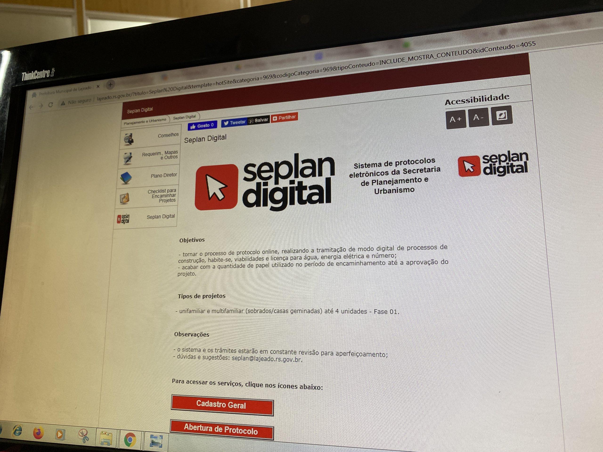 Prefeitura de Lajeado lança novidade na plataforma Seplan Digital