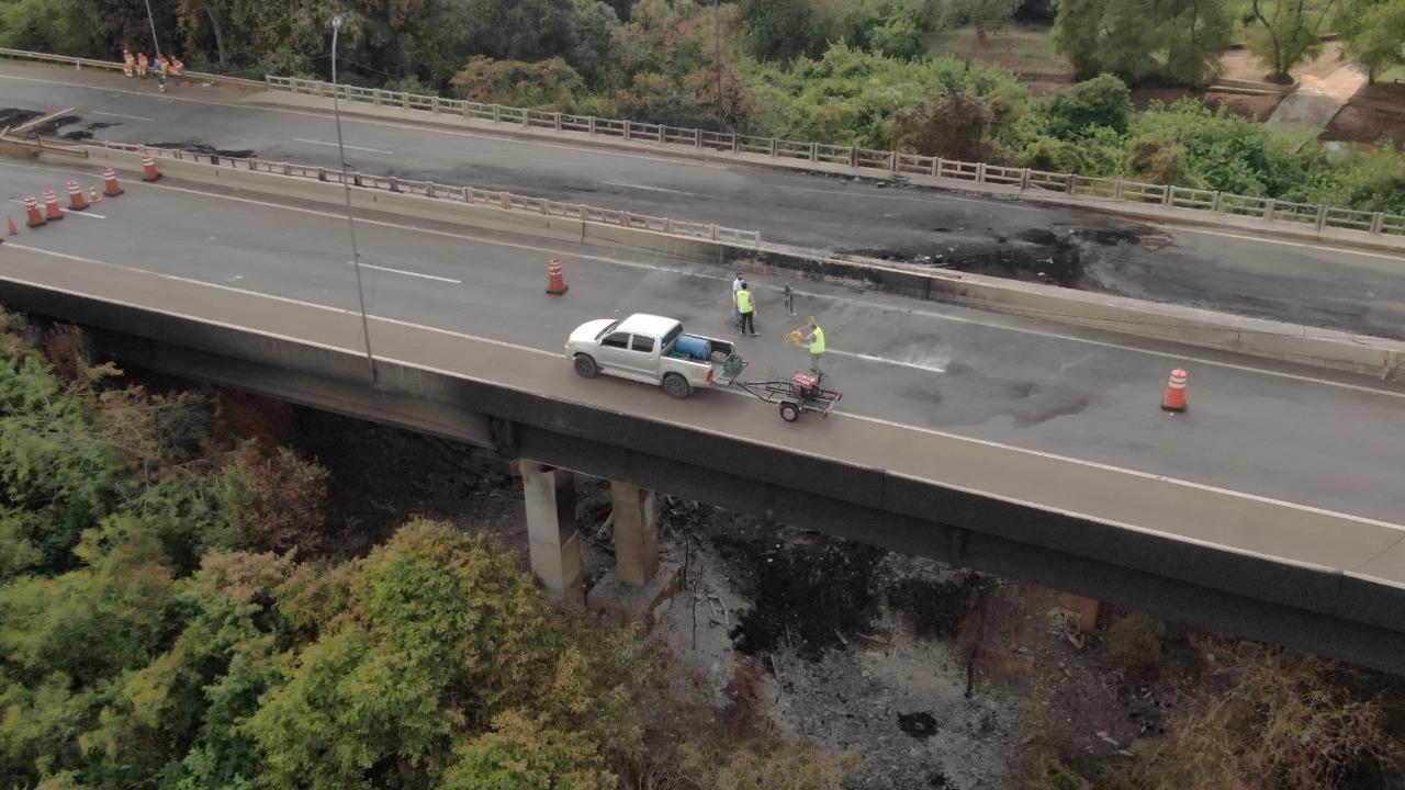 Reconstrução da ponte na 386 levará até seis meses