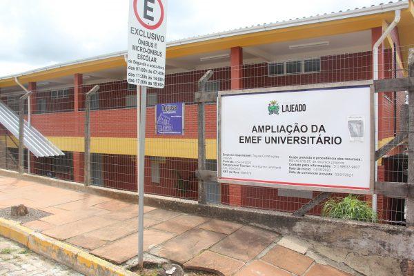 Três escolas municipais de Lajeado recebem obras de ampliação
