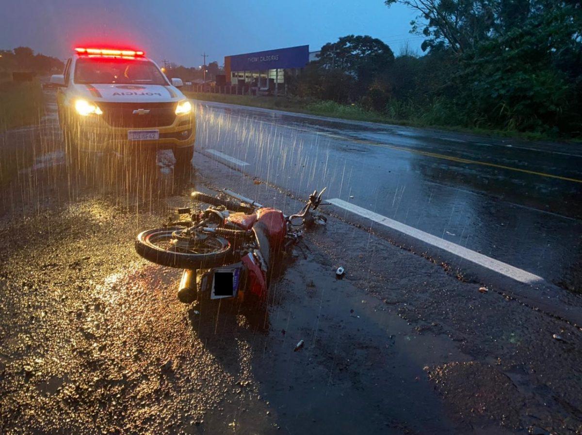 Motociclista de Venâncio morre em acidente na RSC-453, em São Rafael