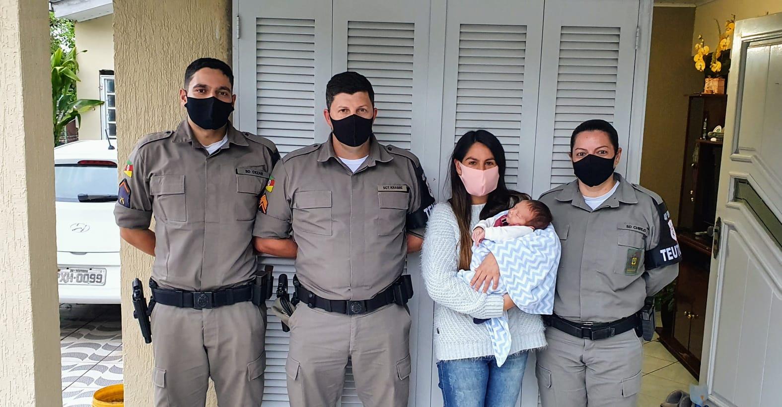 BM de Teutônia salva bebê engasgado