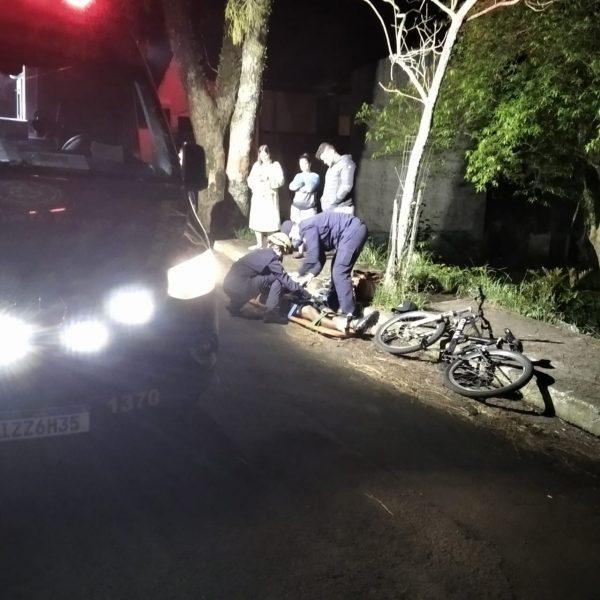 Ciclista é atropelado em Estrela
